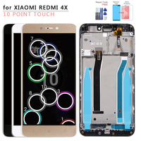 For Xiaomi Redmi 4X LCD Display Touch Screen Digitizer Assembly With Frame Replacement Parts For 5