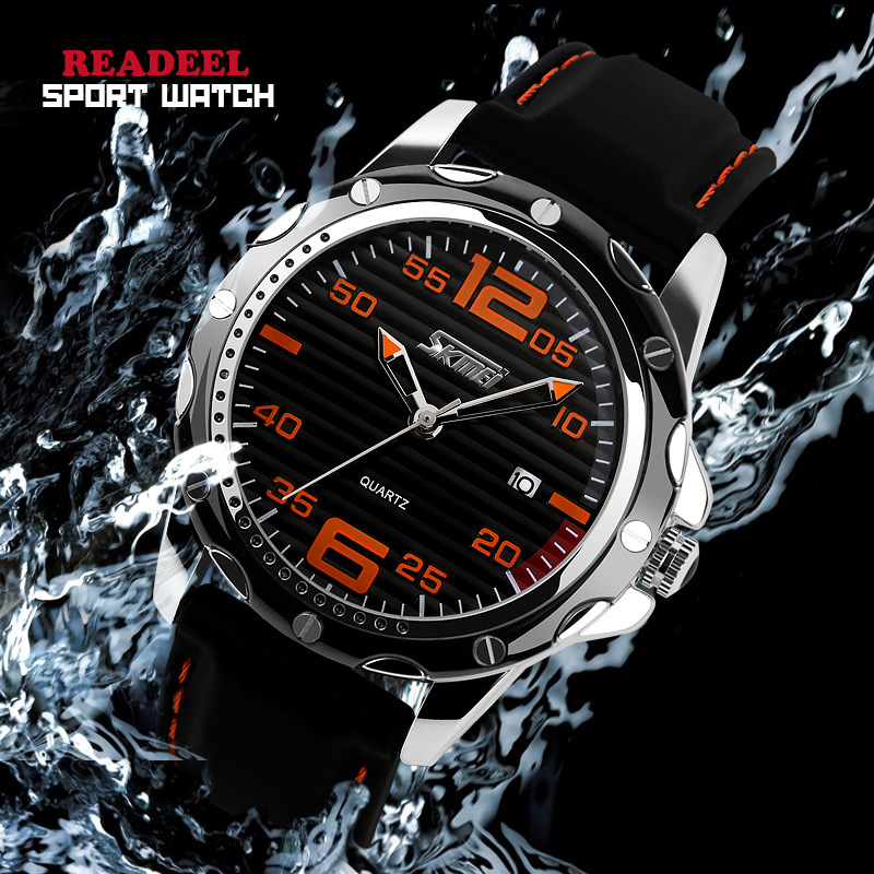 2016 HOT Brand Fashion Casual Sport Watches Men Quartz Wristwatches Silicone Waterproof Watch Men Clock Reloj Relogio Masculino shoesofdream women s 2015 summer peep pointed toe red anke strap patent leahter sexy spike high heels