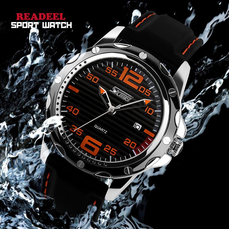Prix pour 2016 HOT Marque De Mode Casual Sport Montres Hommes Quartz Montres Silicone Montre Étanche Hommes Horloge Reloj Relogio Masculino