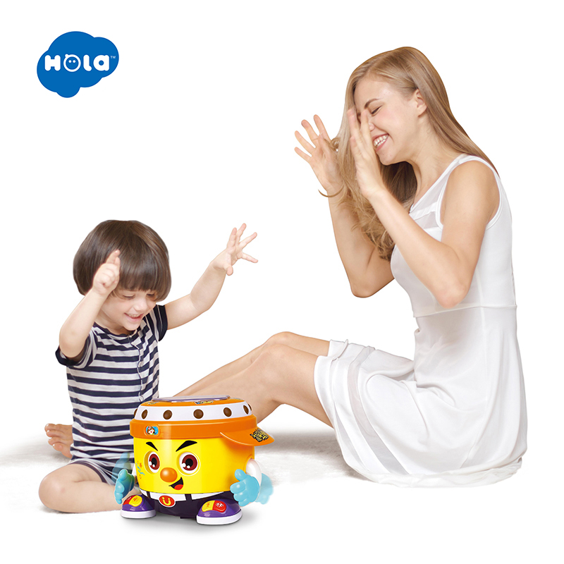 HOLA 6107 Baby Toy DJ Party Drum with Music & Light Learning Educational Toys for Children