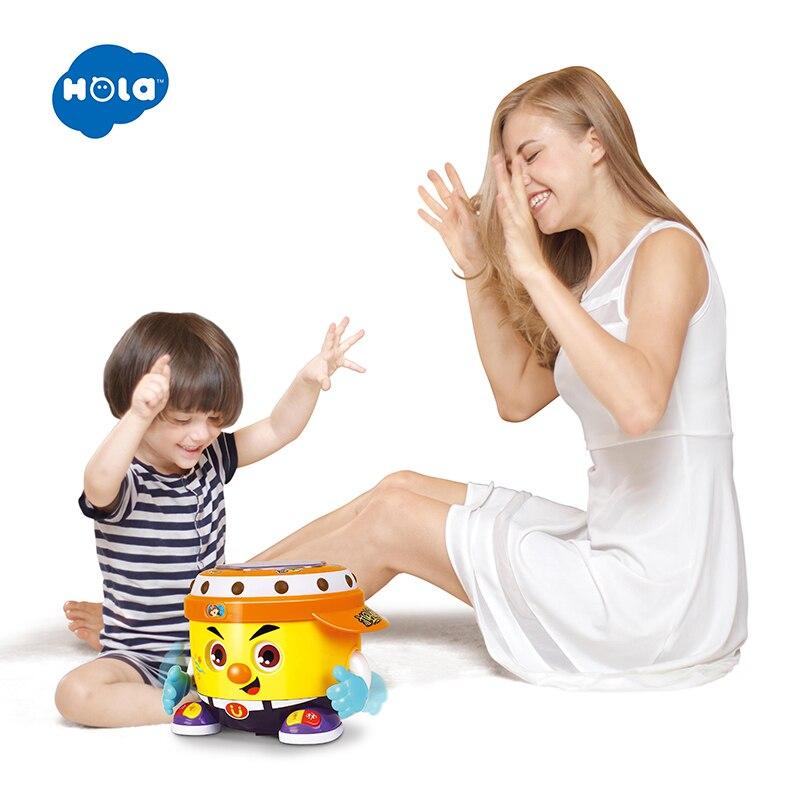 HOLA 6107 juguete de bebé DJ de fiesta de juguete con música y luz de aprendizaje juguetes educativos para niños
