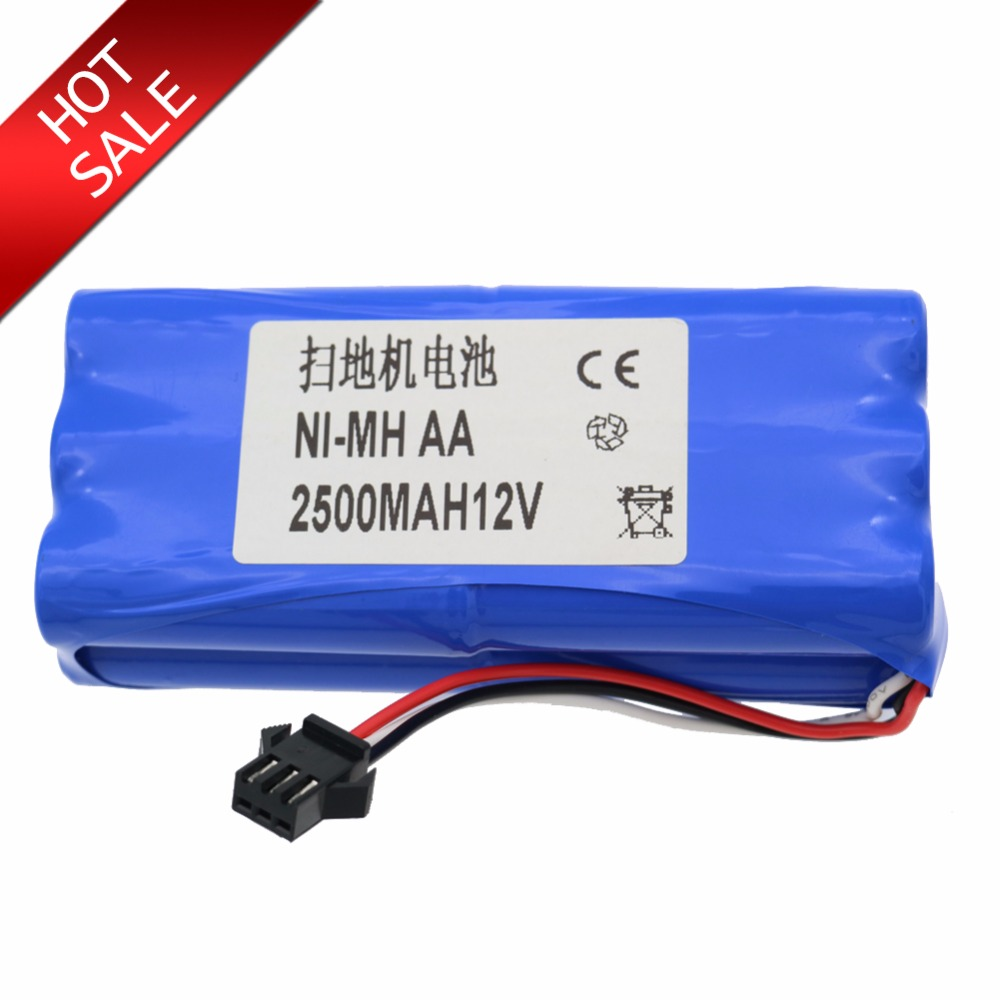 Ni-MH 2500 mAh robot Original Battery replacement for Seebest D730 Seebest D720 robot Vacuum Cleaner PartsNi-MH 2500 mAh robot Original Battery replacement for Seebest D730 Seebest D720 robot Vacuum Cleaner Parts