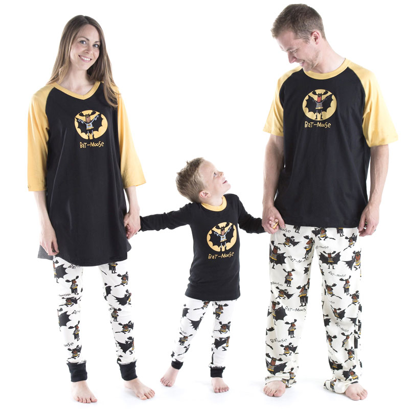 Family christmas pajamas 2018 Christmas bat-moose Print Family Matching Clothes Matching Mother Daughte Father Son Mon New Year