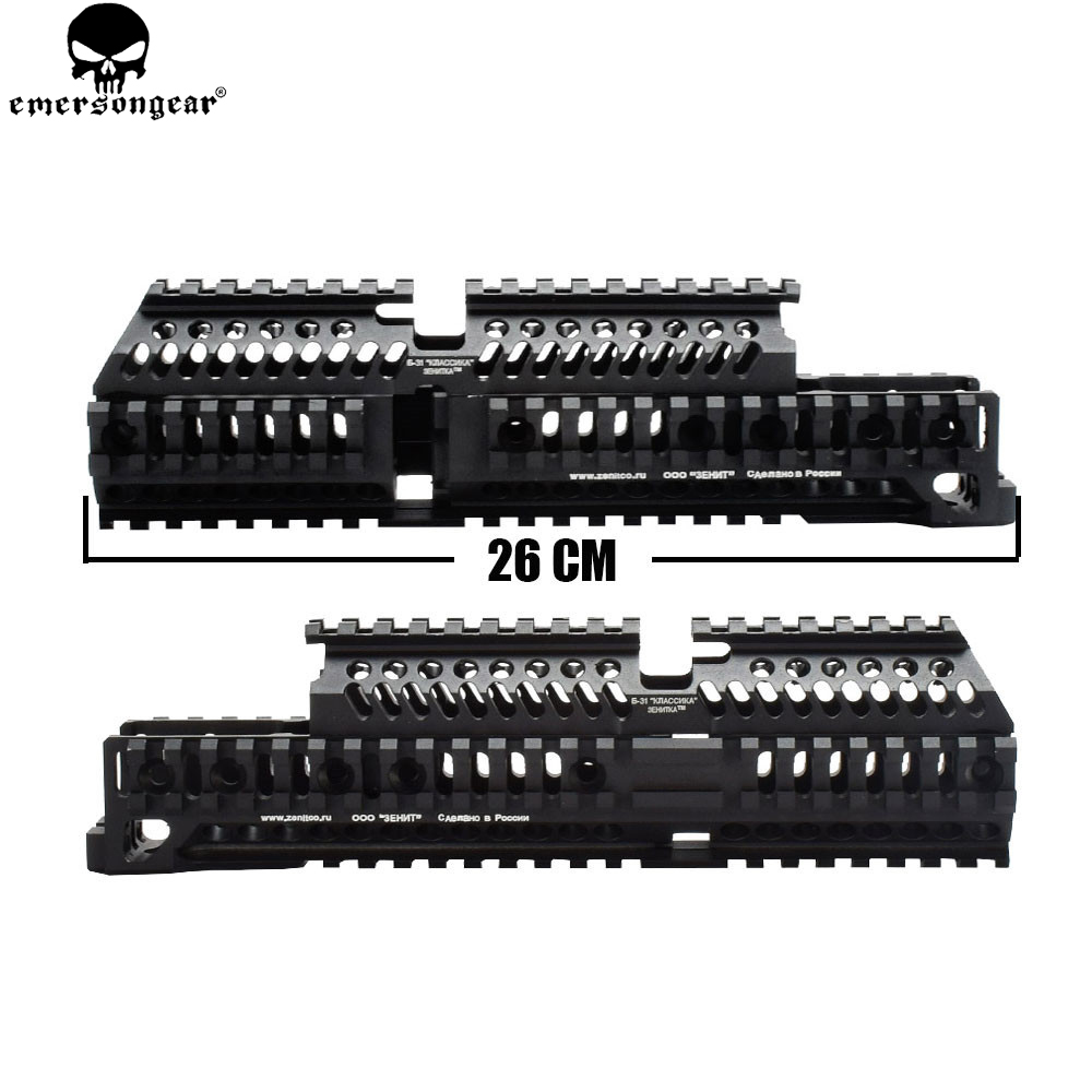 EMERSON AK 47 Tactical Quad Rail Picatinny Handguard System CNC Aluminum Full Length Tactical for AK AEG / GBB Rifles B30 B31(China)
