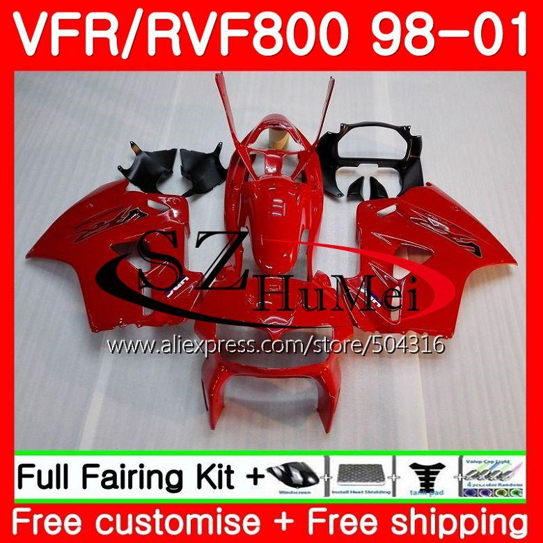 Kit For HONDA VFR800R Interceptor VFR800 Glossy red 98 99 00 01 112SH14 VFR 800RR 800 RR VFR800RR 1998 1999 2000 2001 FairingKit For HONDA VFR800R Interceptor VFR800 Glossy red 98 99 00 01 112SH14 VFR 800RR 800 RR VFR800RR 1998 1999 2000 2001 Fairing