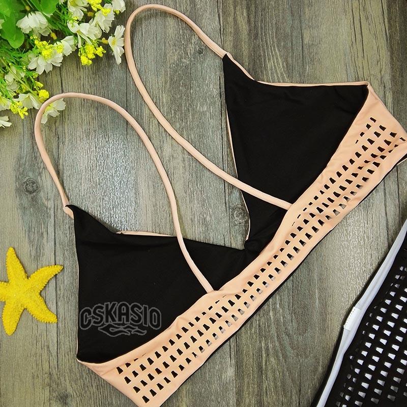 2017 NEW Bollow Out Үшбұрышты Bikini Set Bikinis - Спорттық киім мен керек-жарақтар - фото 5