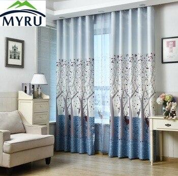 MYRU dibujos animados para niños cortina Fawns árboles cortinas para  dormitorio sala de estar envío gratis