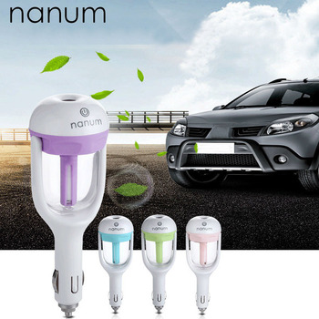 цена на Car air freshener 12V Car Humidifier Mini Air Purifier Aroma Diffuser Essential oil diffuser Aromatherapy Mist Maker Fogger