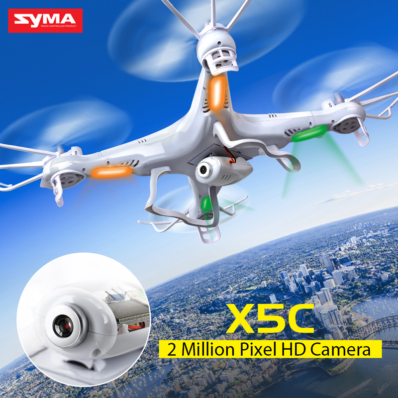 Drone Syma X5C Kvadrokopter with Camera Quadcopter 2.4G 4CH with 6-Axis Gyro Flashing LED Light Remote Control Helicopter Dron 2016 new listing 898c 2 4g 4ch 6 axis gyro rtf led light remote control quadcopter auto return drone toy
