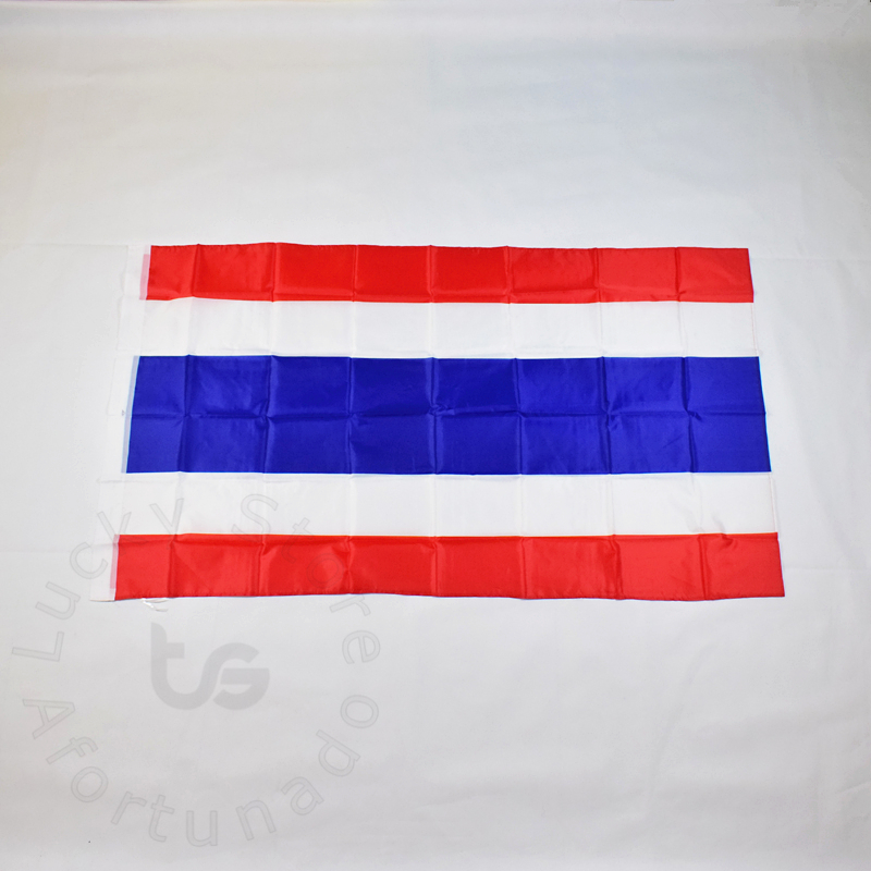 پرچم تایلند 90 * 150 سانتی متر پرچم حمل و نقل رایگان حلق آویز پرچم ملی تایلند برای ملاقات ، رژه ، مهمانی. آویز ، دکوراسیون
