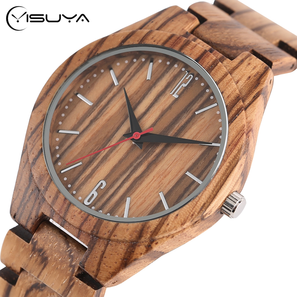 Creative Wooden Watches Nature Bamboo Wood Quartz Wrist Watch Handmade from Real Wood Bangle Clock Full Wooden Watches simple brown bamboo full wooden adjustable band strap analog wrist watch bangle minimalist new arrival hot women men nature wood