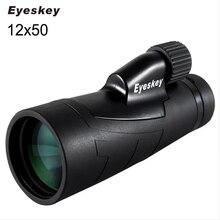 12x50 Eyeskey 광학 방수 단안 망원경 BaK4 프리즘과 사냥 망원경 쌍안경 높은 전력에 대 한 높은 전력