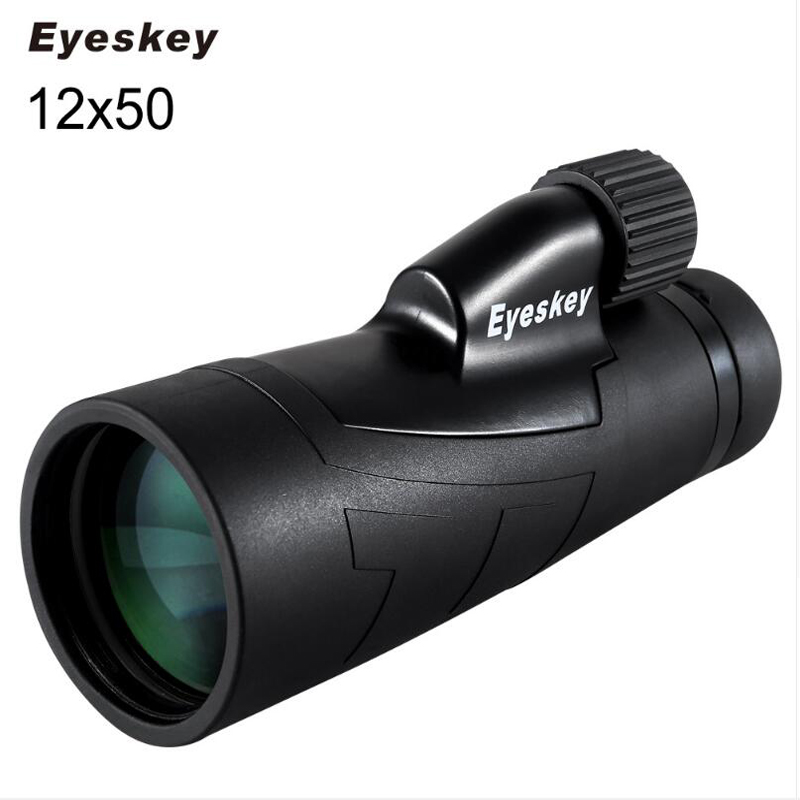 12x50 Eyeskey Optics Waterproof Monocular Telescope High Times for Hunting Telescope Binoculars High Power with BaK4 Prism eyeskey waterproof portable 8x25 monocular telescope binoculars large optics eyepiece monocular for hunting with bak4 prism