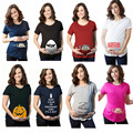 2017 Women's T-shirts Cartoon Maternity Top allaitement Funny Pregnancy T shirts Cotton T shirt pregnant Tee shirt allaitement