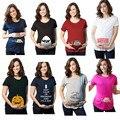 2017 de Las Mujeres Camisetas de la Historieta De Maternidad Embarazo allaitement Divertido camisetas de Algodón camiseta camiseta embarazada allaitement