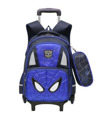 Kids Rolling Bags For Boys Student Trolley Backpack Book Bag Wheeled Backpack For School Bags With Wheels Travel Trolley Mochila