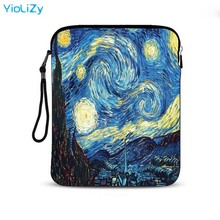Van Gogh print 9.7 10.1 inch tablet Protective case laptop bag Cover notebook sleeve pouch For iPad Air pro 2 lenovo IP-24818 3d print tablet sleeve 9 7 10 10 1 inch neoprene tablet pc pouch bag protective case for ipad air 2 for samsung xiaomi lenovo