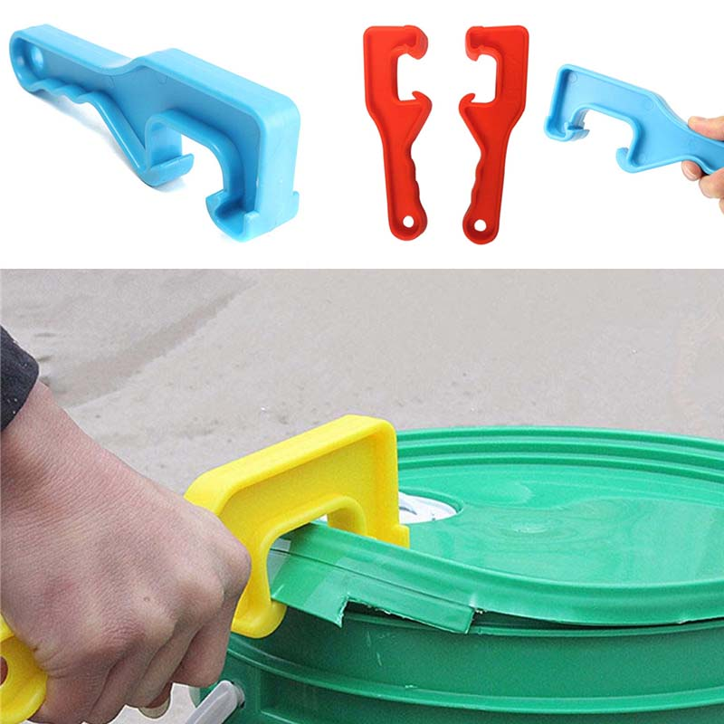 1Pc High Quality ABS Plastic Gallon Bucket Pail Paint Barrel Lid Can Opener Opening Tool For Home Office Color Random
