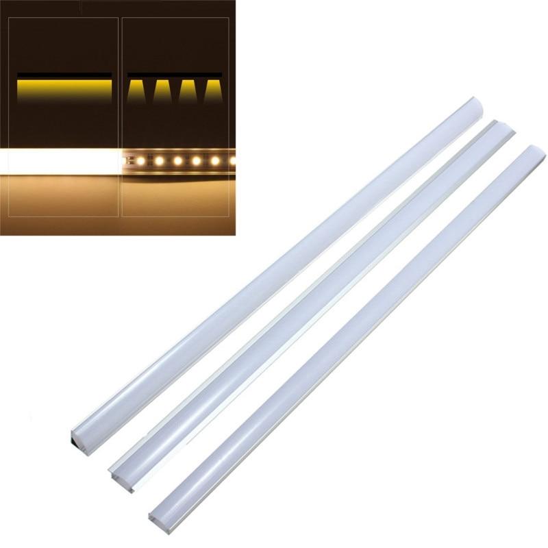Light Bulbs Faithful U/v/yw Style 30/50cm Aluminium Milk Cover Rigid Channel Holder Led Strip Bar Light Under Cabinet Cupboard Kitchen Bathroom Lamp In Short Supply