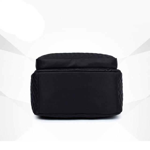 Female Backpack Preppy Style Nylon Women Backpack High Qulaity Shoulder Bags Student Bag Black Backpack A2217 4
