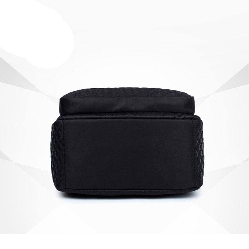 Female Backpack Preppy Style Nylon Women Backpack High Qulaity Shoulder Bags Student Bag Black Backpack A2217 #5