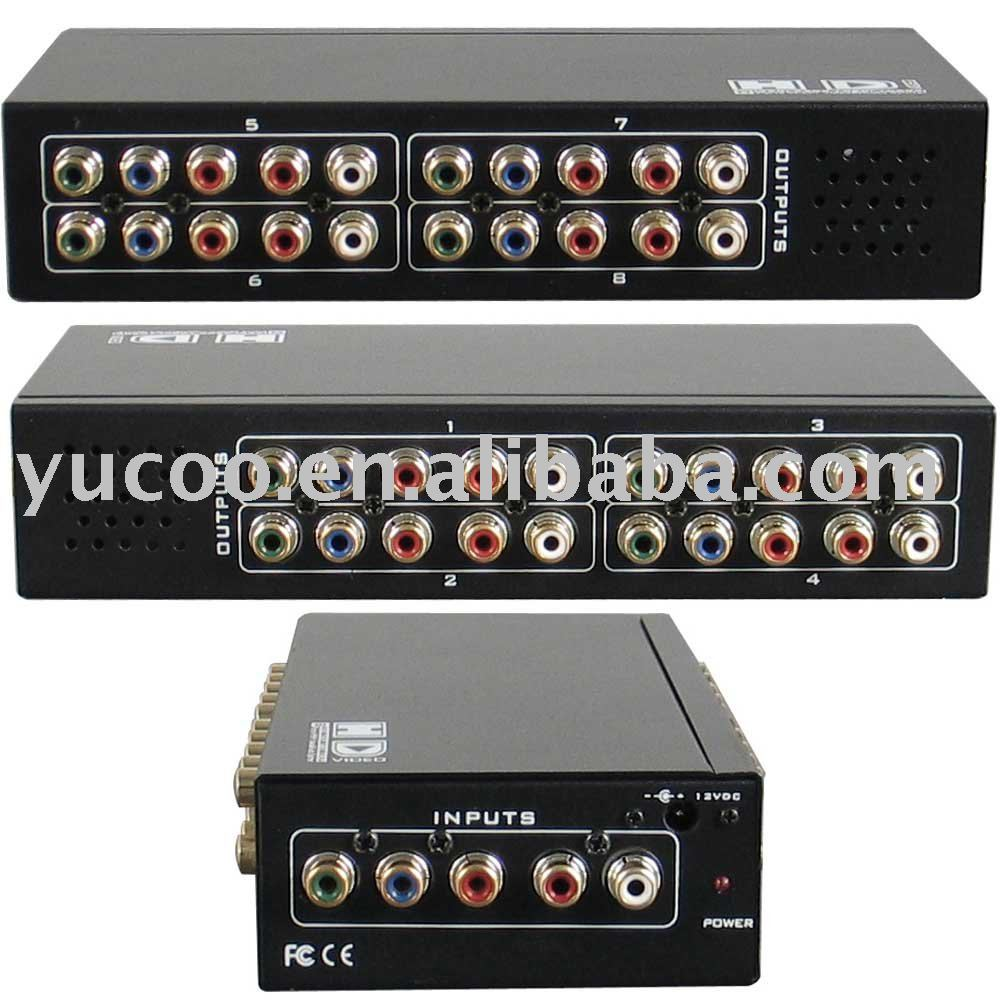 8 Ports Ypbpr Video Stereo Audio Av Distribution Amplifier Yk Uv338ya On Alibaba Group