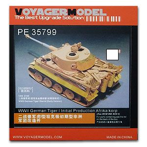 KNL HOBBY Voyager Model PE35799 World War II German tiger I tank type very early African ...