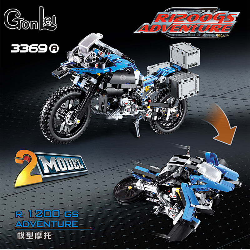 GonLeI DECOO 3369 Technic Series The BAMW Off-road Motorcycles R1200 GS Building Blocks Bricks Educational Toys Lepin 20032 decoo 3369 technic series the bamw off road motorcycles r1200 gs building blocks bricks educational toys lepin 20032 b11