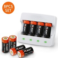 8pc set 700mAh 3.7V Li ion rechargeable protected battery and charger for Arlo HD and Reolink argus replacement battery