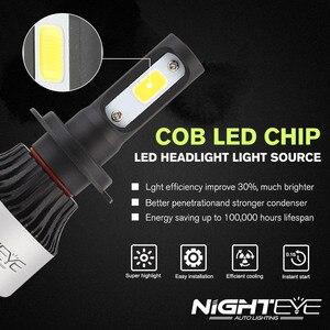 Image 2 - Nighteye Siêu H7 LED H1 H11 HB3 HB4 H4 LED Tự Động Bóng Đèn Xe Ô Tô Sáng Tự Động Đèn LED Phía Trước bóng Đèn Ô Tô H11 Đèn Sương Mù HB3 HB4