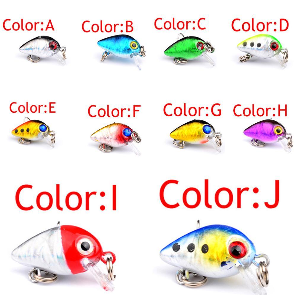 1PC Fishing Lures 2.6cm Plastic Hard Bass Baits 9 Colors Minnow Lures fishing accessories fishing Outdoor sports esca A20