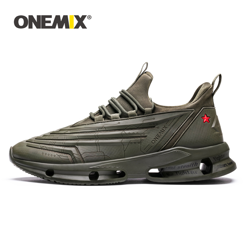 Onemix shoes 남성 스니커즈 2019 new bullet technology design 경량 가죽 캐주얼 스포츠 트레이닝 조깅화 여성 플랫-에서남성용 캐주얼 신발부터 신발 의  그룹 1