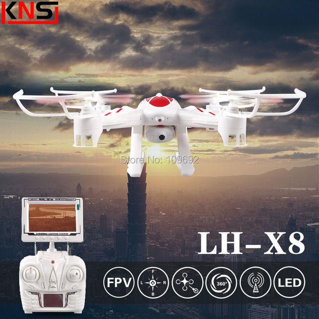 Original LI HUANG LH-X8DV Em tempo Real de Vídeo RC Quadcopter 2MP HD câmera 2.4G 6-Axis Drone VS X6SW Helicóptero H107D FPV Monitor LCD