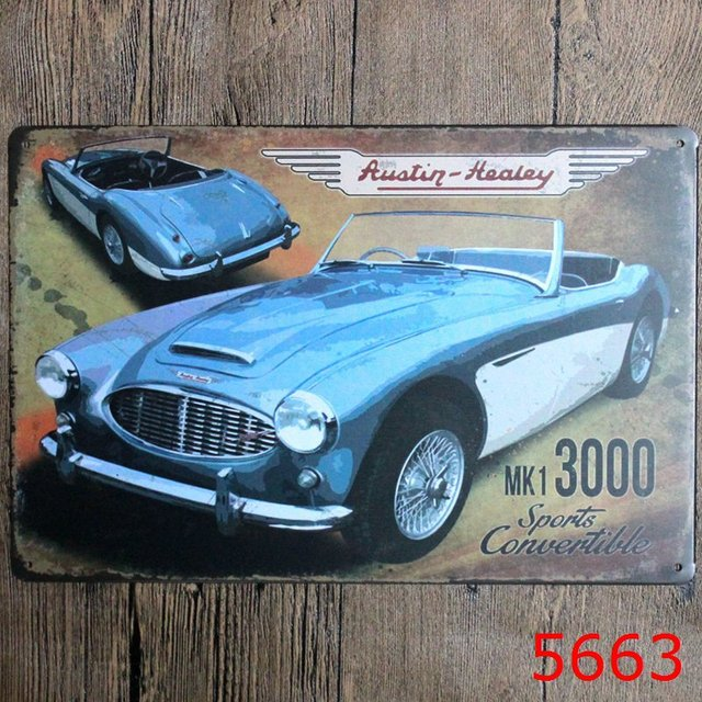30X20CM Vintage American Car Home Decor Tin Sign for Wall Decor ...