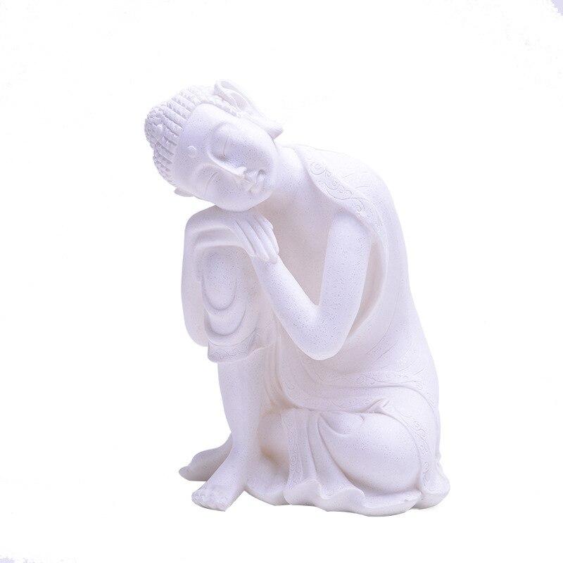 Statue de bouddha en grès inde Yoga Mandala Sculptures grès décoration de la maison accessoires Figurine ornements R61
