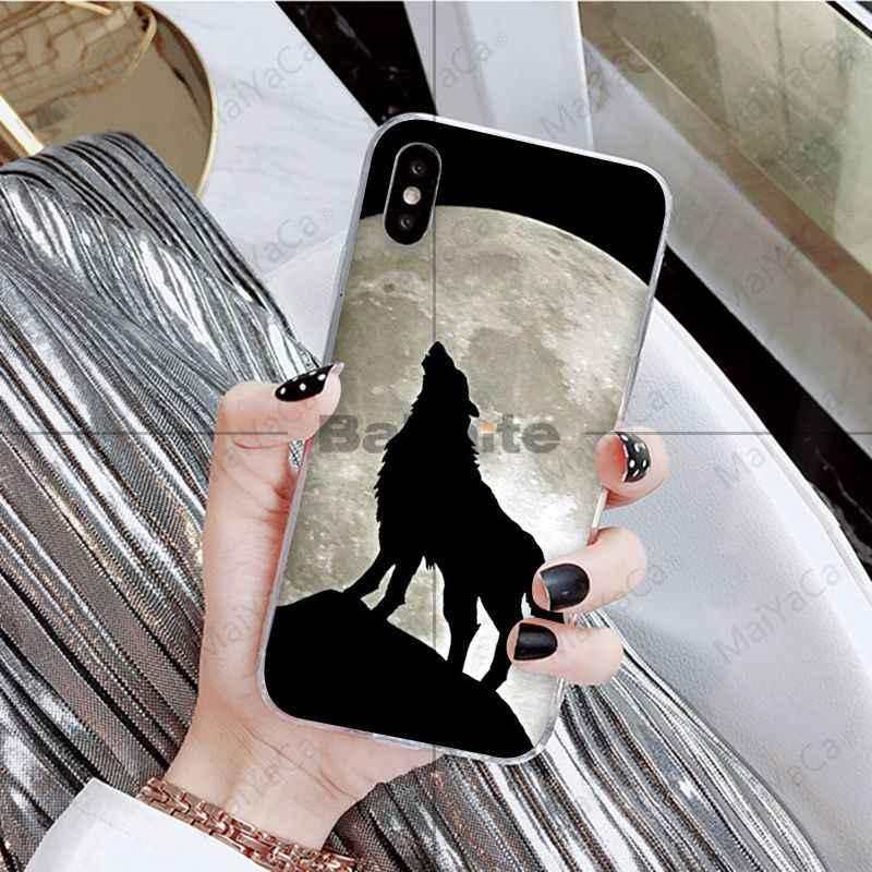 Babaite 怒っ動物ウルフフェイスパターンソフトシリコン黒電話ケース iphone 8 7 6 6 S プラス 5 5 S 、 SE XR X XS 最大 Coque シェル