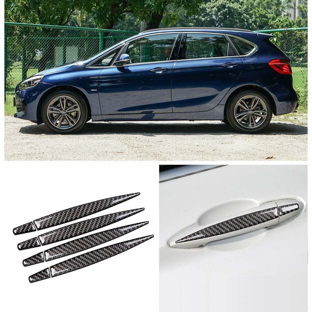 Bandes autocollantes pour poignée de porte extérieure en Fiber de carbone pour BMW série 2 Touring