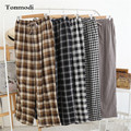 Sleep Trousers For Men Double Yarn Plaid Loose Pajamas Pants Leisure Sleep Bottoms