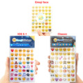 Emoji Smile stickers 10 sheets/lot IOS 9.1 New fun (48 Die Cut ) Classic toys sticker for notebook message Vinyl funny creative
