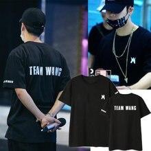 c2a6315650dc5 Nueva Kpop GOT7 JACKSON equipo wang el mismo par de verano Camiseta de  manga corta Camiseta