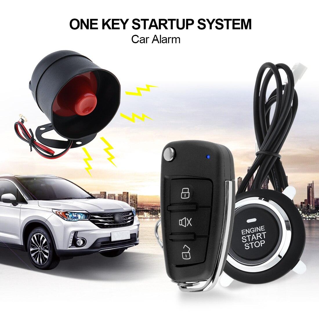 Универсальная автомобильная сигнализация Система безопасности Дистанционное включение выключение кнопка двигателя система автомобиля б...