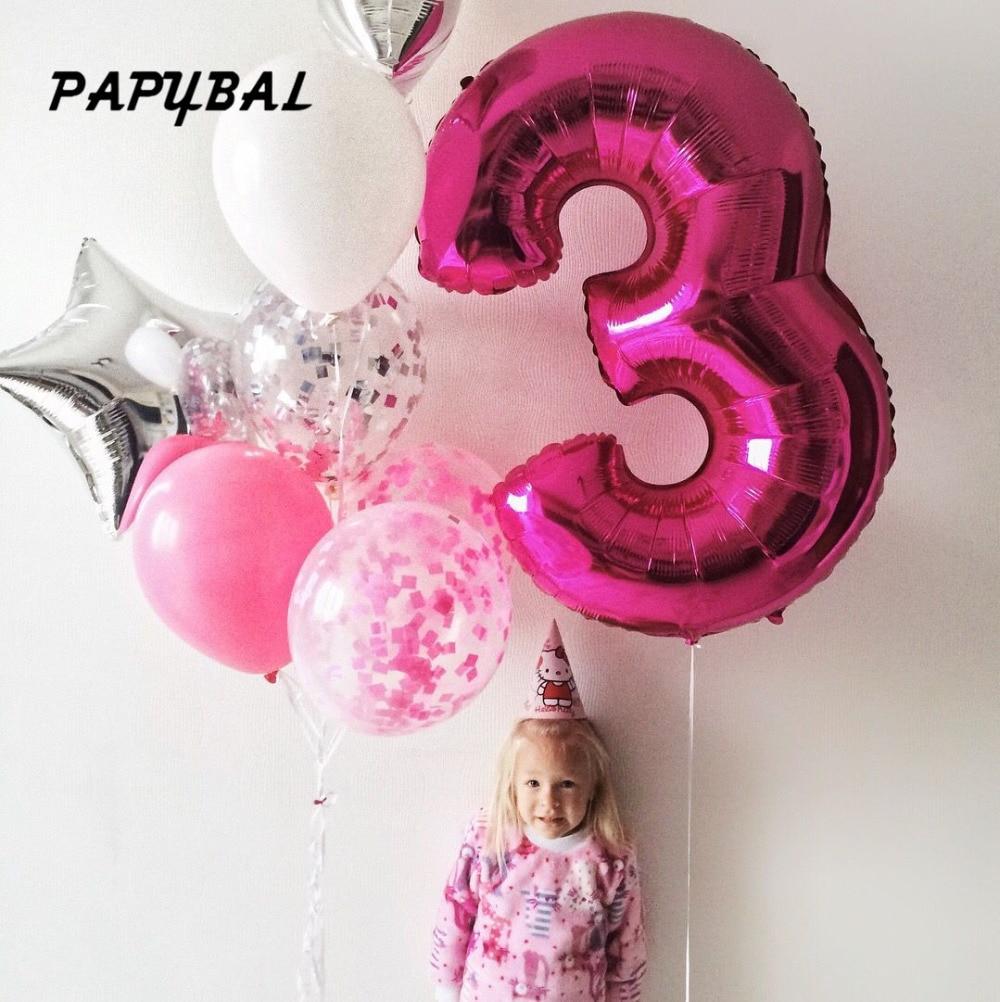1Pcs 40''Rose Número Ouro Prata Folha De Alumínio Balões de Hélio Festa de Aniversário de Casamento Decoração de Aniversário Inflável Bola De Ar