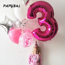 1Pcs 40Gold Silver Number Balloon Aluminum Foil Helium Balloons Birthday Wedding Party Decor Celebration Inflatable Air Baloes