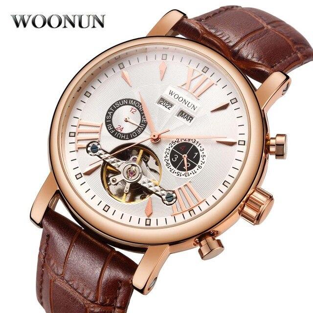 778b2401b1d 2018 Nova Mens Relógio Turbilhão Multifuncionais Relógios Mecânicos Top  Marca de Luxo Rosa Banhado A Ouro