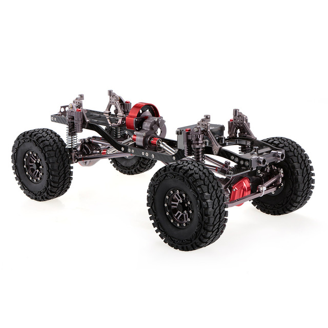 RC Racing CNC Aluminum Metal and Carbon Frame for RC Car 1/10 AXIAL SCX10  Chassis 313mm Wheelbase Vehicle Crawler Cars Parts-in RC Cars from Toys &  ...