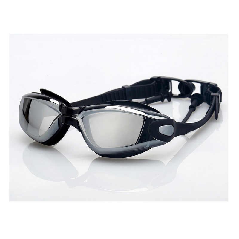Miopia óculos de natação earplug profissional adulto silicone natação boné piscina anti nevoeiro das mulheres dos homens ótico à prova deyeágua