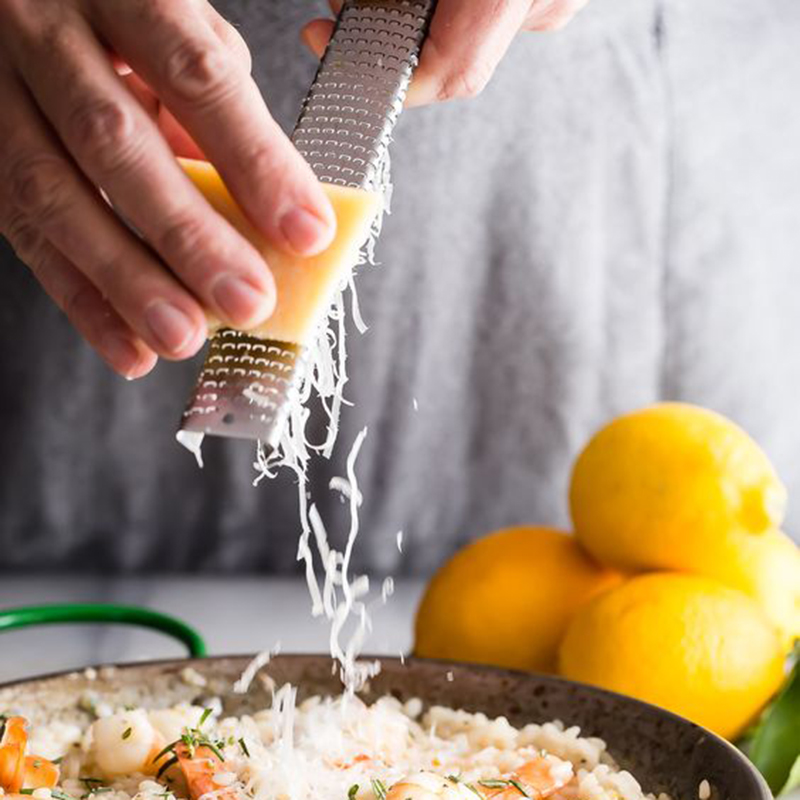 304mm Long Multifunctional Stainless Steel Mini <font><b>Cheese</b></font> <font><b>Grater</b></font> Lemon <font><b>Cheese</b></font> <font><b>Citrus</b></font> <font><b>Zester</b></font> Tool Non-Slip Handle Sturdy Blade image