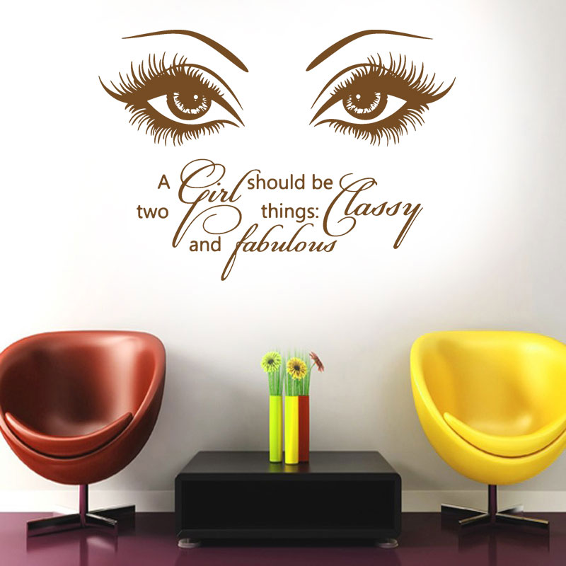 Good Eye Wall Decals Make Up Vinyl Stickers Beauty Salon Quote A Girl Home Decor  F773 In Wall Stickers From Home U0026 Garden On Aliexpress.com | Alibaba Group