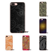 Voor iPod Touch Apple iPhone 4 4 S 5 5 S SE 5C 6 6 S 7 8 X XR XS Plus MAX Transparant Soft Shell Covers Paisley Bloem Mandala Henna(China)