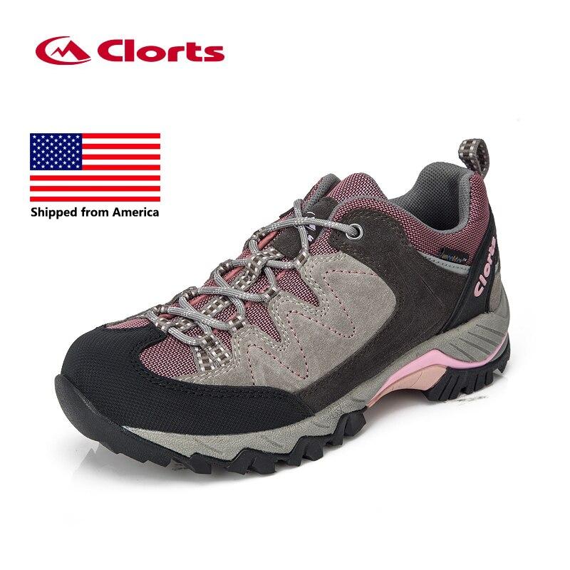 Shipped From USA Clorts Women font b Hiking b font Shoes Suede Outdoor font b Hiking
